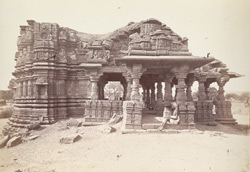 The large temple from the north, Satgaon, Buldana District, Berar 1000191997